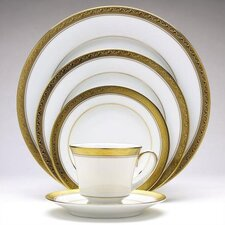 Crestwood Gold 50 Piece Dinnerware Set
