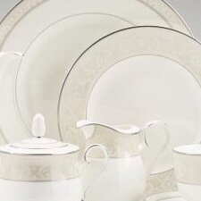 Montvale Platinum Handled Hostess Round Serving Tray