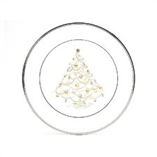 Palace Christmas Platinum Holiday Accent Plate (Set of 4 )