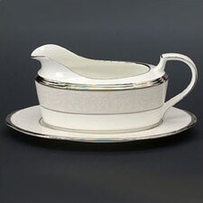 Silver Palace 16 oz. Gravy Dish with Tray