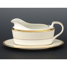 <strong>Noritake</strong> White Palace 16 oz. Gravy Dish with Tray