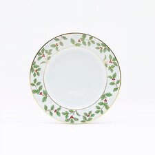 "<strong>Noritake</strong> Holly and Berry Gold 6.25"" Bread and Butter Plate"