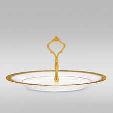 Crestwood Gold Handled Round Hostess Tray