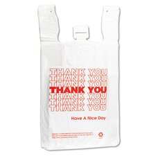 <strong>Inteplast Group</strong> T-Shirt Thank You Bag in White, 500/Case