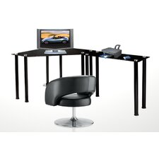 <strong>RTA Home And Office</strong> CT Computer/Laptop Desk Corner Computer Desk with Right Extension Table