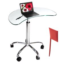 Laptop Stand with Casters in Clear Glass