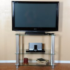 "Extra Tall Glass and Aluminum 35"" TV Stand"