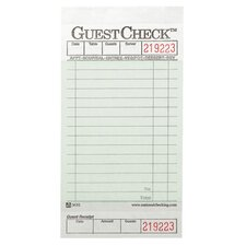 Guest Check Pad with Stub