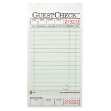 One-Part Board Guest Check Pad