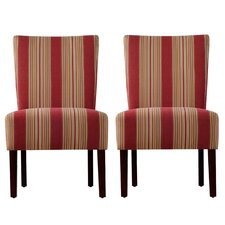 <strong>Handy Living</strong> Dunley Fabric Slipper Chair (Set of 2)