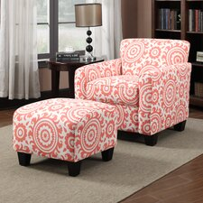 <strong>Handy Living</strong> Lincoln Park Chair and Ottoman