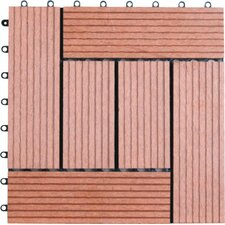 "Bamboo Composite 12"" x 12"" Deck Tiles"