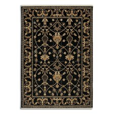 English Manor William Morris Black Area Rug