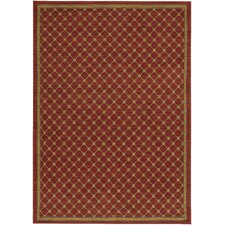 English Manor Coventry Trellis Red Area Rug