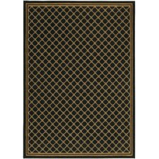 English Manor Coventry Trellis Black Area Rug
