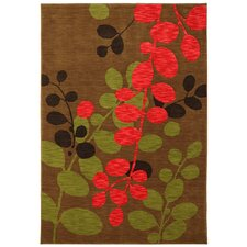 Panache Dachshund Martha's Path Brown Area Rug