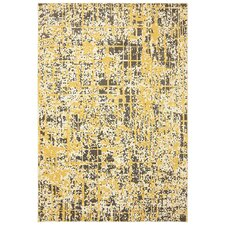 Panache Creme Brulee Pixelated Gold/ Yellow Area Rug