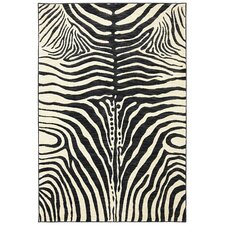 Panache Black Serengeti Gallery Area Rug