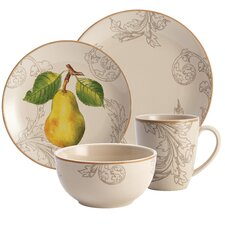 Orchard Harvest Stoneware 16 Piece Dinnerware Set