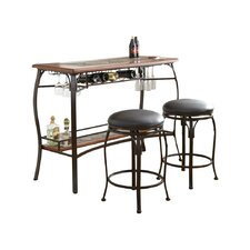 Dakota 3 Piece Pub Table Set