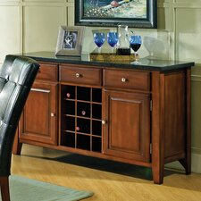 <strong>Steve Silver Furniture</strong> Granite Bello Wine Rack and Server