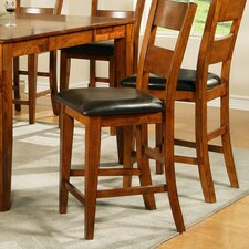 Mango Counter Height Dining Chair in Light Oak