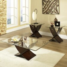 <strong>Steve Silver Furniture</strong> Cafe 3 Piece Coffee Table Set