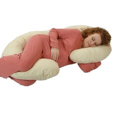 Organic Smart  Snoogle Body Pillow in Natural Ivory