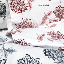 Flower Printed Extra Deep Pocket Flannel Sheet Set