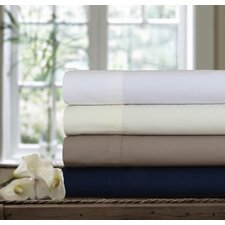 300 Thread Count Egyptian Cotton Percale Deep Pocket Sheet Set