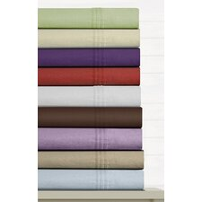 <strong>Tribeca Living</strong> Luxury Solid Cotton Deep Pocket Flannel Sheet Set