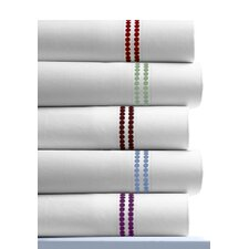 <strong>Tribeca Living</strong> 400 Thread Count Dot Embroidered Cotton Deep Pocket Sheet Set