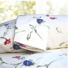 Floral Garden Printed Extra Deep Pocket Flannel Sheet Set