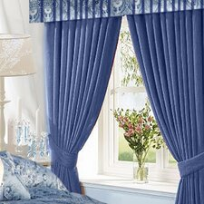 Atlantis Cotton Rod Pocket Curtain Panel (Set of 2)
