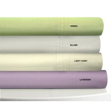 <strong>Tribeca Living</strong> 350 Thread Count Egyptian Cotton Percale Deep Pocket Sheet Set