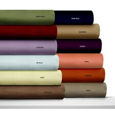 <strong>Tribeca Living</strong> Luxury Solid Flannel Deep Pocket Sheet Set