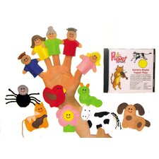 Nursery Rhymes Finger Puppet and CD Set
