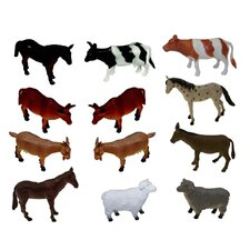 Farm Animal Play Set (Set of 12)