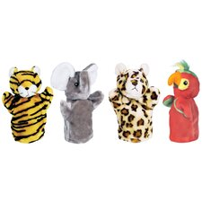 <strong>Get Ready Kids</strong> Zoo Puppet Set (Tiger, Elephant, Leopard, Parrot)