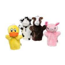 Farm Puppet Set (Cow, Horse, Pig, Duck)