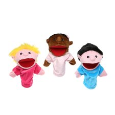 Multicultural Kids Puppet Set