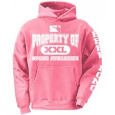 Property of BPONG Athletics Hoodie with Sleeve Imprint in Pink