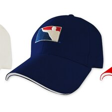 Fitted Beer Pong Hat with Logo in Navy