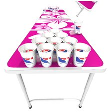 <strong>BPONG</strong> Official Beer Pong Table in Pink Hawaiian
