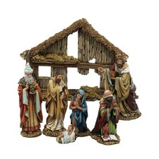 Resin 7 Piece Nativity Set