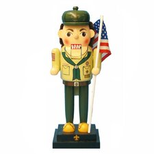 Wooden Boy Scount Nutcracker