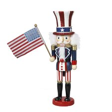 Hollywood Wooden Uncle Sam Nutcracker