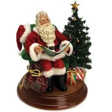 Fabriche Battery Operated Story Telling Santa Figurine with Sound