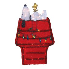 3D Snoopy and Doghouse with Tinsel