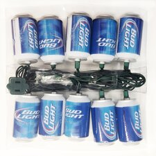 Bud Light Beer Can New Logo Light Set